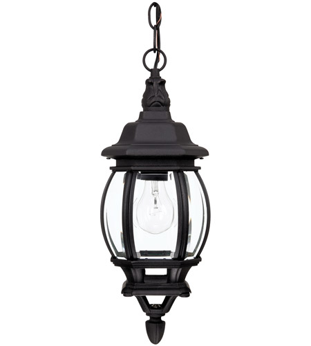 Capital Lighting 9868BK French Country 1 Light 7 inch Black Outdoor Hanging Lantern photo