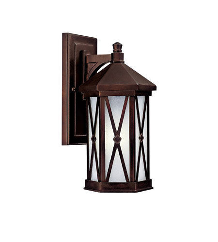 Capital Lighting Saxton 1 Light Fluorescent Outdoor Wall Lantern in Burnished Bronze with Frosted Seeded Glass 9872BB-GU photo