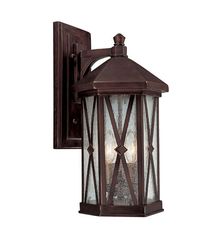 Capital Lighting Saxton 3 Light Outdoor Wall Lantern in Burnished Bronze with Seeded Glass 9873BB photo