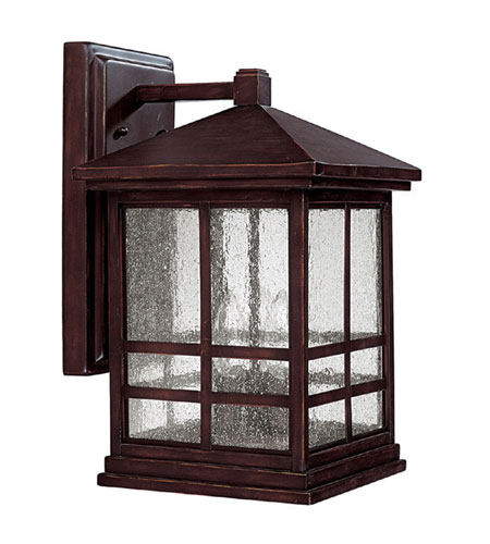 Capital Lighting Preston 4 Light Outdoor Wall Lantern in Mediterranean Bronze with Seeded Glass 9913MBZ photo