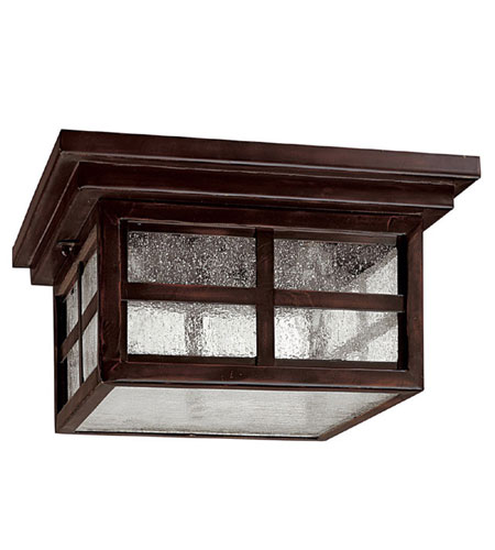 Capital Lighting Preston 3 Light Outdoor Ceiling in Mediterranean Bronze with Seeded Glass 9917MBZ photo