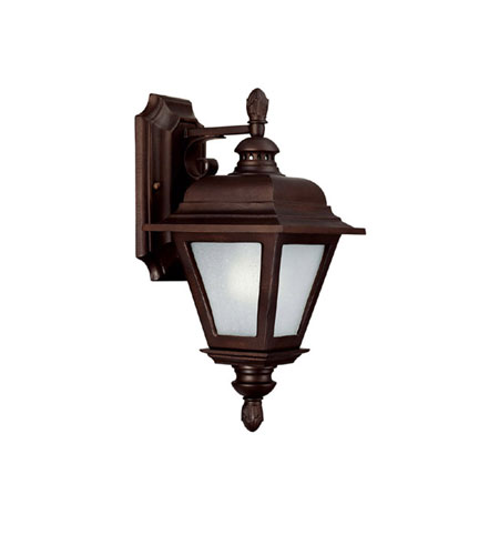 Capital Lighting Brookwood 1 Light Fluorescent Outdoor Wall Lantern in Burnished Bronze with Frosted Seeded Glass 9961BB-GU photo