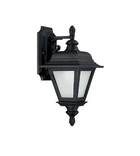 Capital Lighting Brookwood 1 Light Fluorescent Outdoor Wall Lantern in Black with Frosted Seeded Glass 9961BK-GU photo