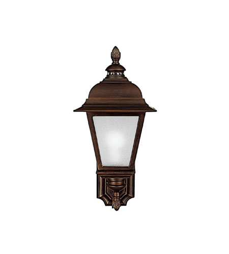 Capital Lighting Brookwood 1 Light Fluorescent Outdoor Wall Lantern in Burnished Bronze with Frosted Seeded Glass 9962BB-GU photo