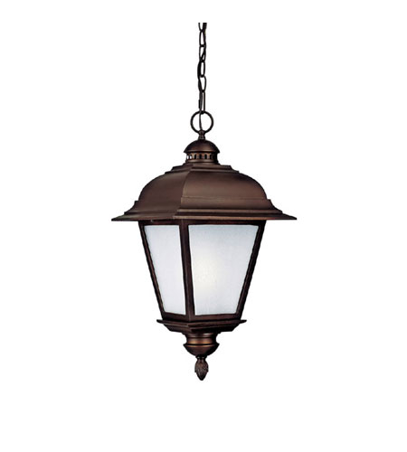 Capital Lighting Brookwood 1 Light Fluorescent Outdoor Hanging Lantern in Burnished Bronze with Frosted Seeded Glass 9966BB-GU photo