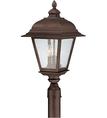 Capital Lighting 9967BB Brookwood 3 Light 24 inch Burnished Bronze Outdoor Post Lantern photo