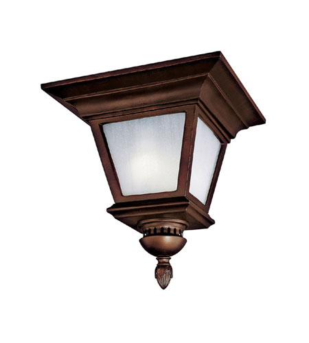 Capital Lighting Brookwood 2 Light Fluorescent Outdoor Ceiling in Burnished Bronze with Frosted Seeded Glass 9968BB-GU photo