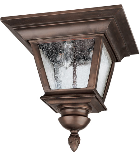 Capital Lighting 9968BB Brookwood 3 Light 12 inch Burnished Bronze Outdoor Ceiling photo