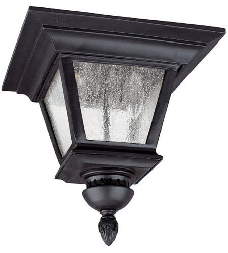 Capital Lighting 9968BK Brookwood 3 Light 12 inch Black Outdoor Ceiling photo