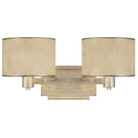 Luna 2 Light 18 inch Winter Gold Vanity Wall Light