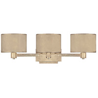 Luna 3 Light 27 inch Winter Gold Vanity Wall Light