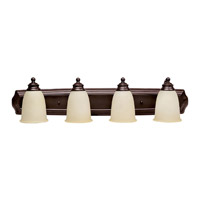 Capital Lighting Signature 4 Light Vanity in Mediterranean Bronze with Warm Faux Alabaster Glass 1014MBZ-130 photo thumbnail