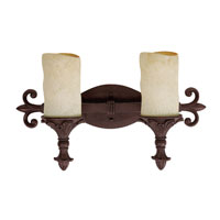 Capital Lighting Mediterranean 2 Light Vanity Light in Mediterranean Bronze 1042MZ-125