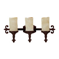 Capital Lighting Mediterranean 3 Light Vanity in Mediterranean Bronze with Rust Scavo Glass 1043MBZ-125 photo thumbnail