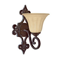 Capital Lighting Sierra 1 Light Sconce in Mediterranean Bronze with Sienna Scavo Glass 1051MBZ-268 photo thumbnail