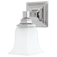 Capital Lighting Signature 1 Light Sconce in Chrome with Acid Washed Glass 1061CH-142