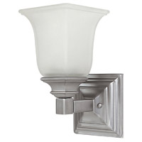 Capital Lighting Signature 1 Light Sconce in Matte Nickel with Acid Washed Glass 1061MN-142 photo thumbnail