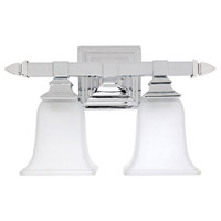 Capital Lighting Signature 2 Light Vanity in Chrome with Acid Washed Glass 1062CH-142