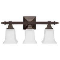 Signature 3 Light 21 inch Burnished Bronze Vanity Wall Light