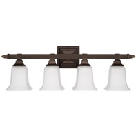 Signature 4 Light 29 inch Burnished Bronze Vanity Wall Light