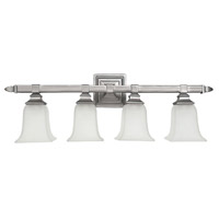 Capital Lighting Signature 4 Light Vanity in Matte Nickel with Acid Washed Glass 1064MN-142