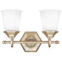 Capital Lighting Fifth Avenue 1 Light Vanity in Winter Gold with Soft White Glass 1067WG-101