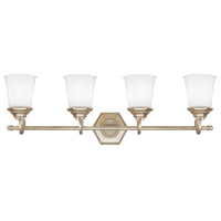 Capital Lighting Fifth Avenue 4 Light Vanity in Winter Gold with Soft White Glass 1069WG-101