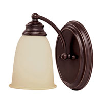 Capital Lighting Signature 1 Light Sconce in Mediterranean Bronze 1081MZ-130