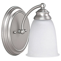 Capital Lighting Signature 1 Light Vanity in Matte Nickel with Acid Washed Glass 1081MN-132