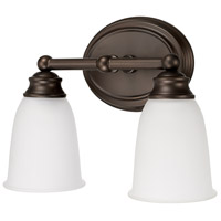 Capital Lighting 1082BB-132 Signature 2 Light 12 inch Burnished Bronze Vanity Wall Light