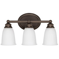 Signature 3 Light 17 inch Burnished Bronze Vanity Wall Light