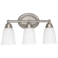 Capital Lighting Signature 3 Light Vanity in Matte Nickel with Acid Washed Glass 1083MN-132
