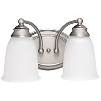 Capital Lighting Signature 2 Light Vanity in Matte Nickel with Acid Washed Glass 1087MN-132