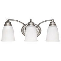 Capital Lighting Signature 3 Light Vanity in Matte Nickel with Acid Washed Glass 1088MN-132