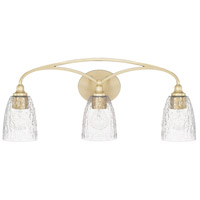 Seaton 3 Light 27 inch Soft Gold Vanity Wall Light