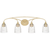Seaton 4 Light 34 inch Soft Gold Vanity Wall Light