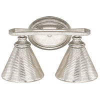 Corrigan 2 Light 14 inch Antique Silver Vanity Wall Light