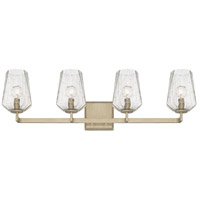 Arden 4 Light 32 inch Brushed Silver Vanity Wall Light