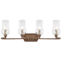 Rowan 4 Light 30 inch Rustic Vanity Wall Light