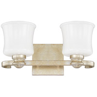 Carlyle 2 Light 15 inch Gilded Silver Vanity Wall Light
