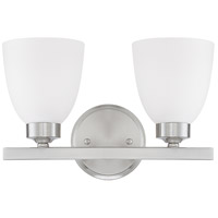 HomePlace 2 Light 13 inch Brushed Nickel Vanity Wall Light