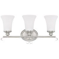 HomePlace 3 Light 23 inch Brushed Nickel Vanity Wall Light