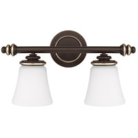 Asher 2 Light 19 inch Champagne Bronze Vanity Wall Light
