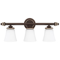 Asher 3 Light 27 inch Champagne Bronze Vanity Wall Light