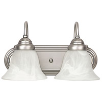 Signature 2 Light 14 inch Matte Nickel Vanity Wall Light