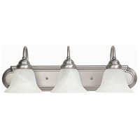 Capital Lighting Signature 3 Light Vanity in Matte Nickel with Faux White Alabaster Glass 1163MN-118