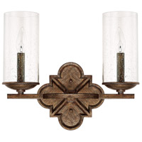 Capital Lighting 117621RT-376 Avanti 2 Light 15 inch Rustic Vanity Wall Light