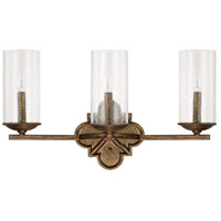 Avanti 3 Light 23 inch Rustic Vanity Wall Light