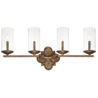 Avanti 4 Light 31 inch Rustic Vanity Wall Light