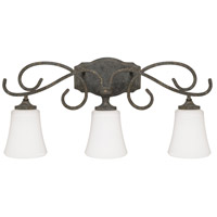 Everleigh 3 Light 26 inch French Greige Vanity Wall Light